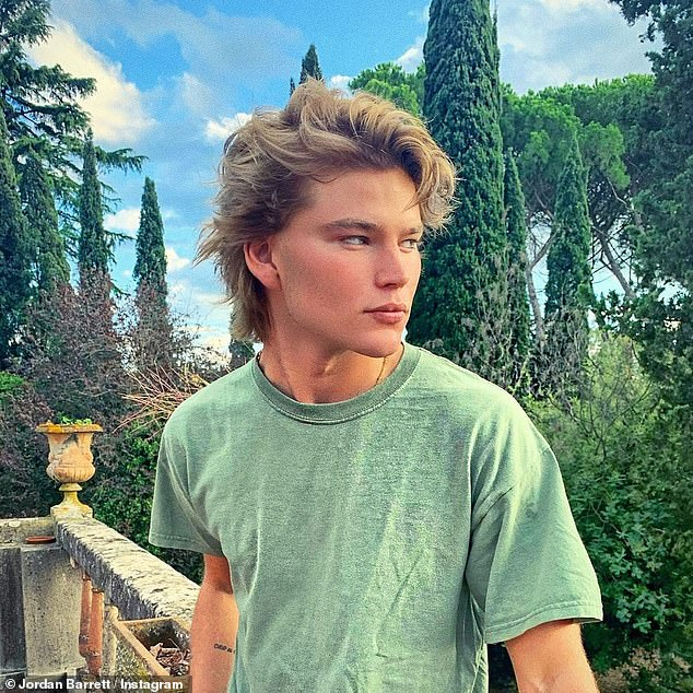New project: Male supermodel Jordan Barrett is set to star in George Maple's new theatre production in Sydney