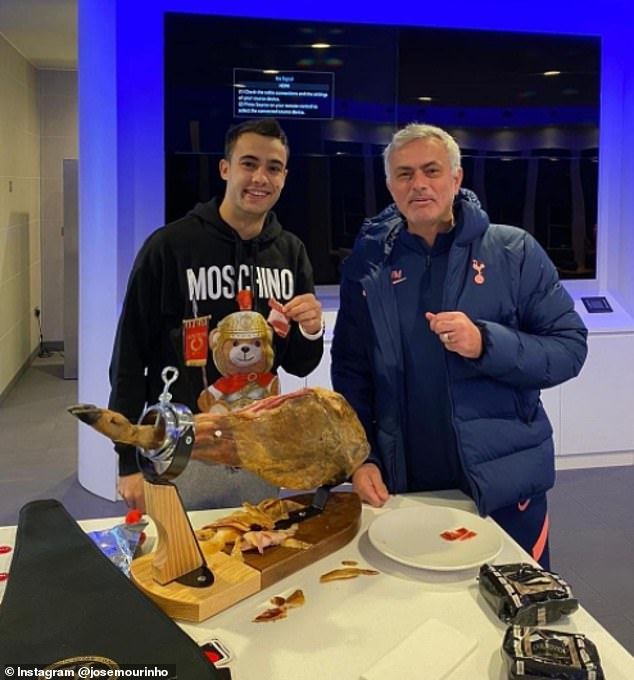Jose Mourinho spent £500 on a leg of ham and posted evidence on his Instagram page
