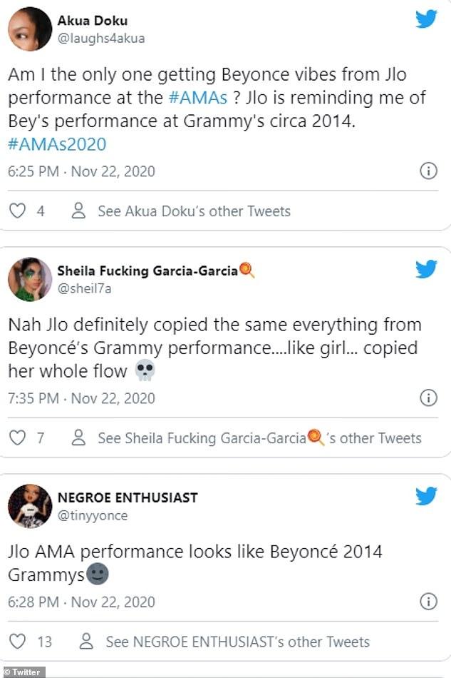 ¿Proceso de copiar?  Aunque recibió un montón de elogios por la actuación, Jennifer se ganó el escrutinio de los fans de Beyonce que la acusaron de copiar la actuación de Drunk In Love de la cantante de 2014.