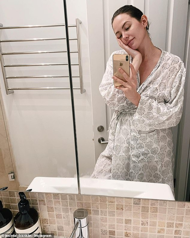 'I rarely get out of the house these days': The busy mother said in her Instagram Story with fans, after joking that she might be 'mad' for being pregnant while nursing an infant