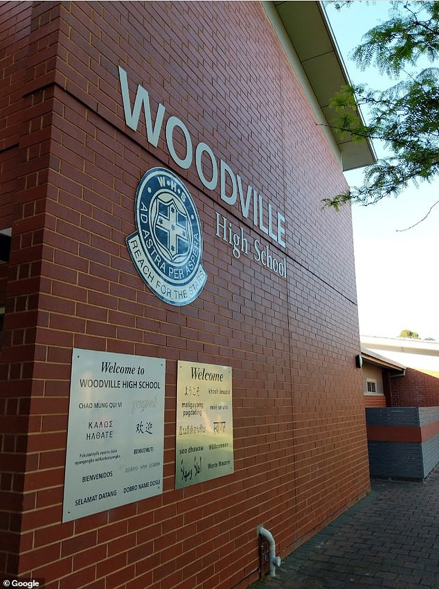 A female high school student has tested positive to coronavirus in South Australia . The student's school, Woodville High School in north-west Adelaide, has since been closed for cleaning (stock image)