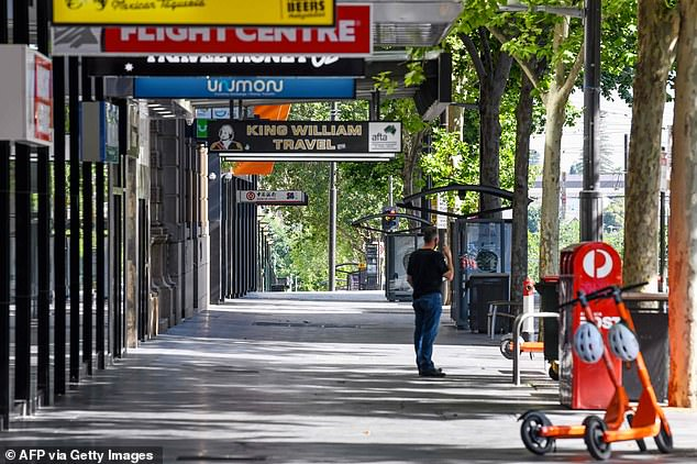 The outbreak from the hotel has been linked to the state's Parafield cluster which has 29 cases (pictured, day one of Adelaide's lockdown)