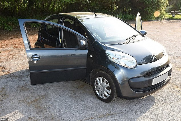 Brehmer claimed the married nurse accidentally suffered the fatal injury while he was trying to push her out of his Citroen car (pictured) so he could drive away
