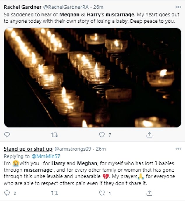 In the wake of Meghan's New York Times piece, grieving parents have taken to social media to share their own miscarriage experiences