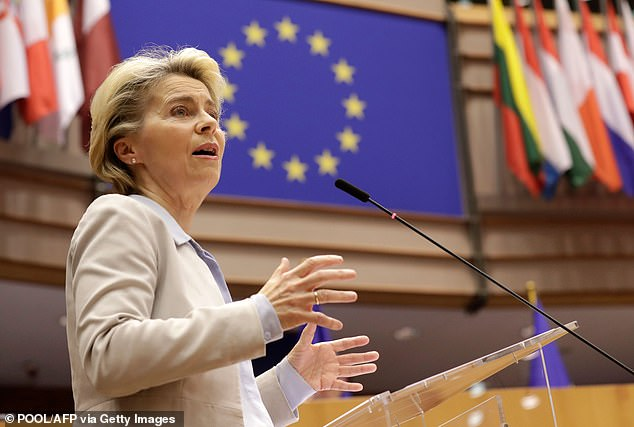 Ursula von der Leyen today told the European Parliament that the EU is 'well prepared for a no deal scenario' as she said trade talks with the UK are now in their 'decisive days'
