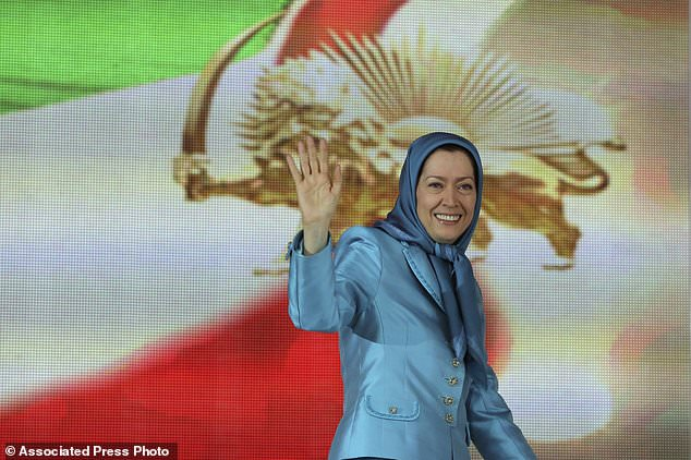 TARGET: Maryam Rajavi, head of the National Council of Iranian Resistance, greets supporters in Villepinte, north of Paris, during the annual conference in 2014