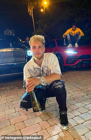 YouTuber Jake Paul threw a massive party at his Calabasas, California mansion in July despite concerns surrounding the pandemic