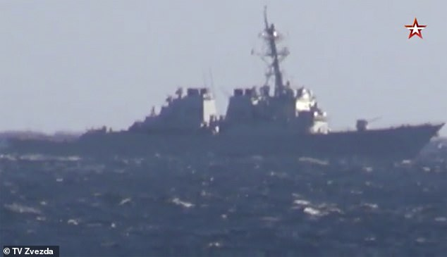 A Russian warship threatened to ram the US Navy's destroyer John S McCain in the Sea of Japan