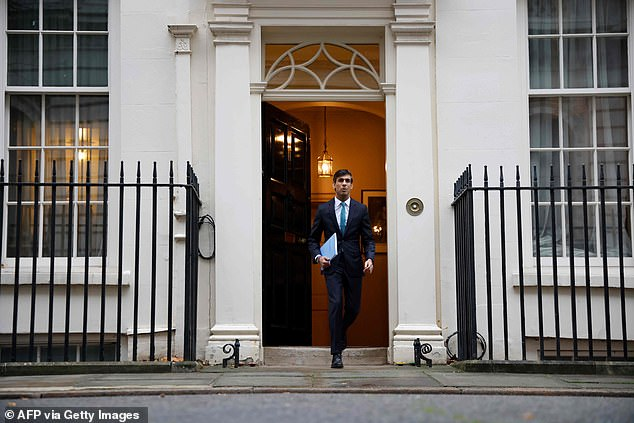 Chancellor Rishi Sunak today revealed that borrowing is expected to hit £394billion this year as the economy shrinks by 11.3 per cent this year - the worst recession in more than 300 years