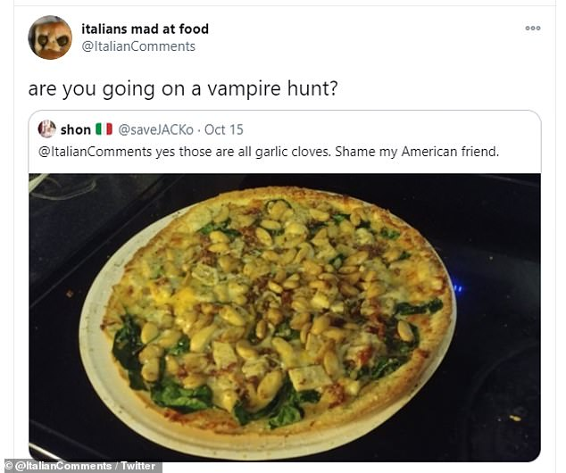 Time for a vampire hunt! One Twitter user suggested covering a pizza in garlic - which was not taken well