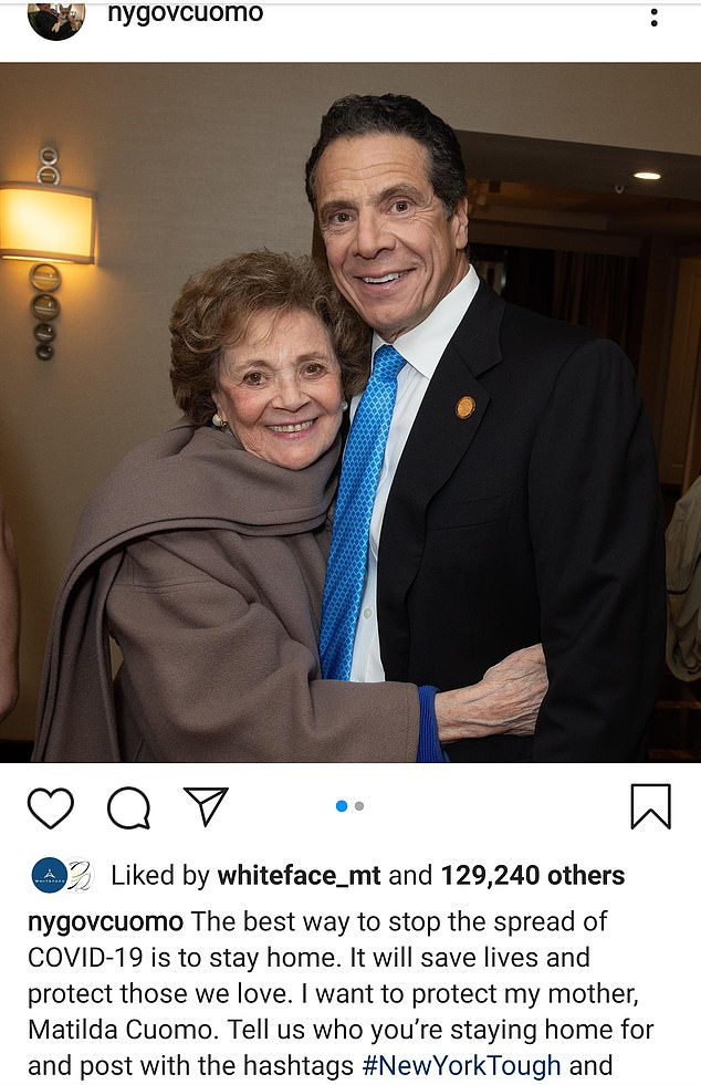Cuomo was blasted as a 'hypocrite' for planning to spend Thanksgiving with his mother