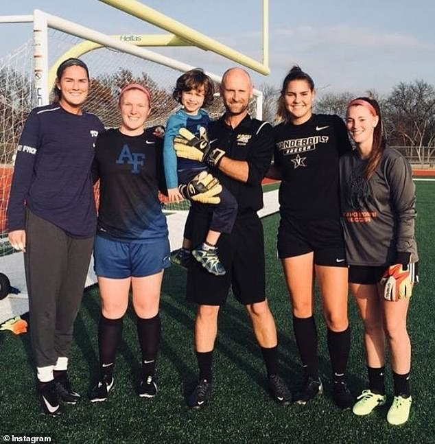 Fuller (second from the right) is coming off her first season starting for the Commodores women's soccer team, which won the Southeastern Conference title