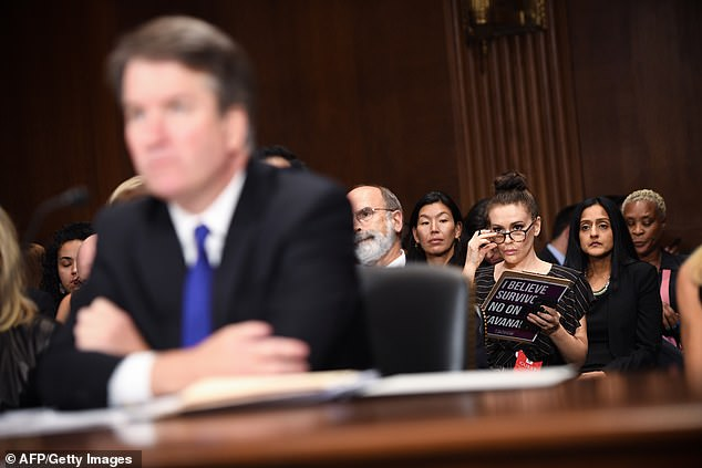 Supporters of the president did not appear too eager to take up the former Who¿s The Boss star on her offer. They reminded her of her fierce, public opposition to the confirmation of then-Judge Brett Kavanaugh to the Supreme Court. Milano was photographed seated behind Kavanaugh during his Senate Judiciary Committee hearings in September 2018