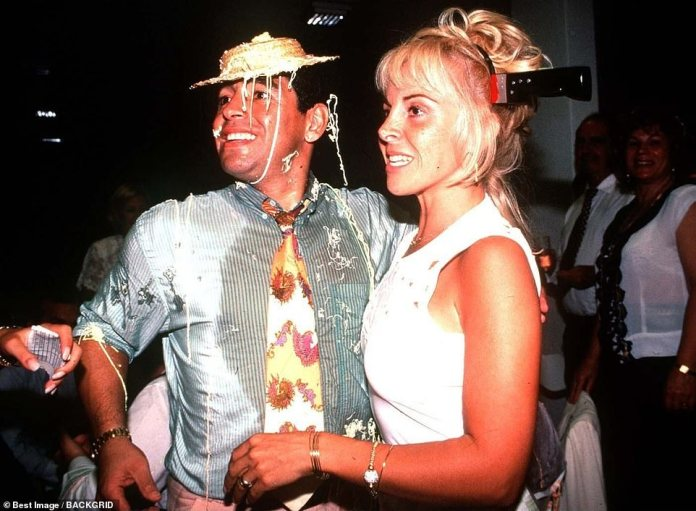 Maradona with his wife andchildhood sweetheart Claudia Villafane, whom he divorced in 2004 after multiple affairs