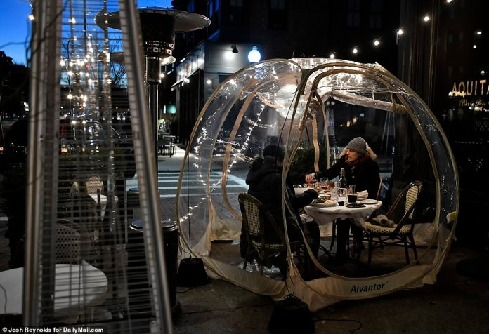 BOSTON:In Boston, where indoor dining is capped at 25 people with a curfew of 9.30pm, outdoor dining has nearly ground to a halt - but a select few establishment have found ways to keep customers coming
