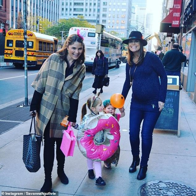 Special time: Jenna and Savannah loved taking their children trick-or-treating together pre-pandemic