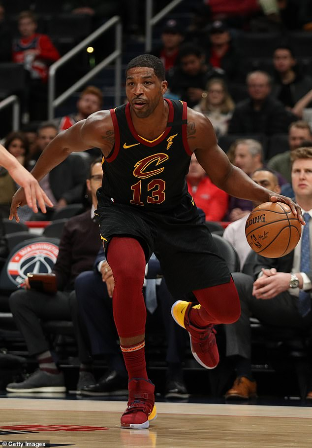 Saying goodbye: The Cavaliers picked Tristan in 2011 and it turned out he was part of the team that broke the 52-year championship drought in Cleveland in 2016;  Tristan pictured in February