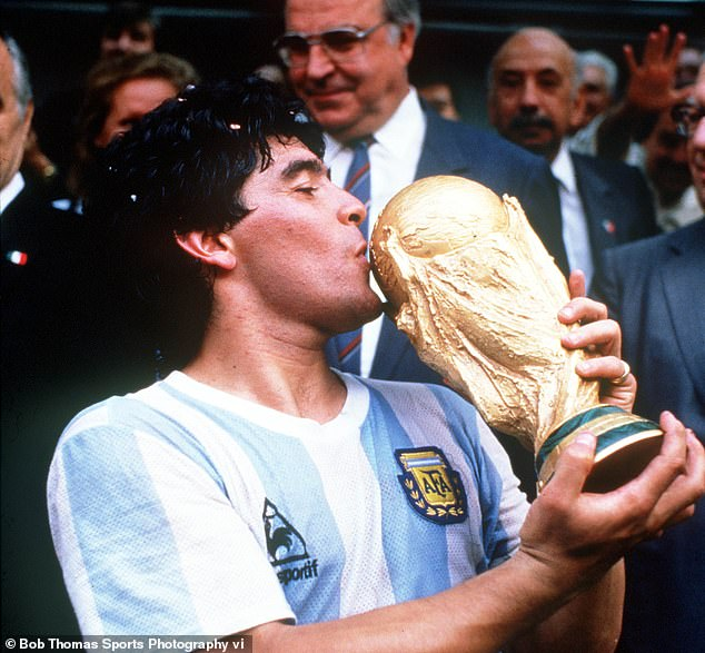 Maradona was an inspirational figure in Argentina, helping them win the 1986 World Cup