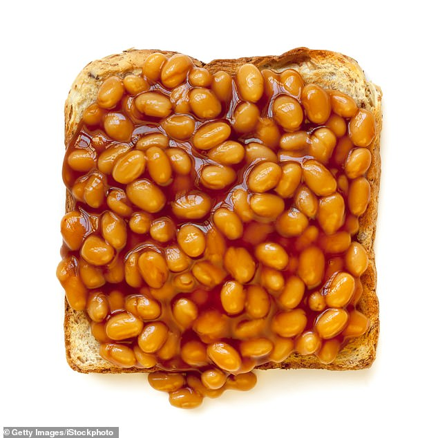 Jamie Oliver's recipe, from his book Comfort Food, requires cannellini beans and tinned tomatoes to recreateHeinz baked beans (stock image)