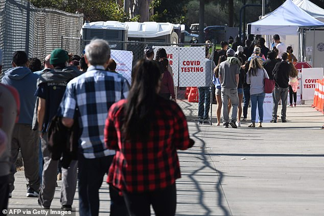 Americans stand in line to get COVID-19 tests ahead of the Thanksgiving holiday. The president-elect asked Americans to wear masks, stay socially distant and only celebrate the holiday in small groups