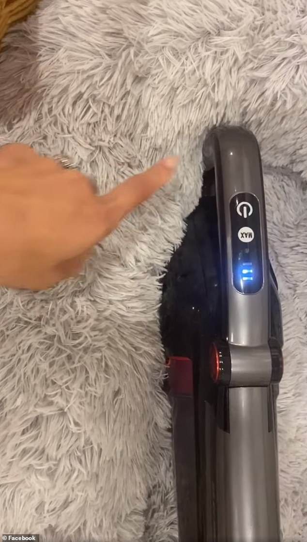 'I have this Kmart stick vacuum, it's about six months old, and has a mind of its own,' she said