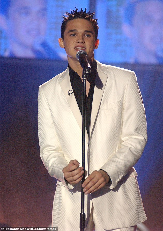 Crooner: He rose to fame when he finished runner-up on Pop Idol in 2002, and despite several years of music success, now performs on cruise ships