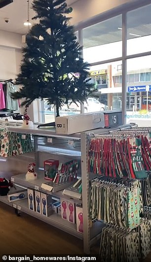 There's a small section at the front of the store for Christmas decorations and essentials