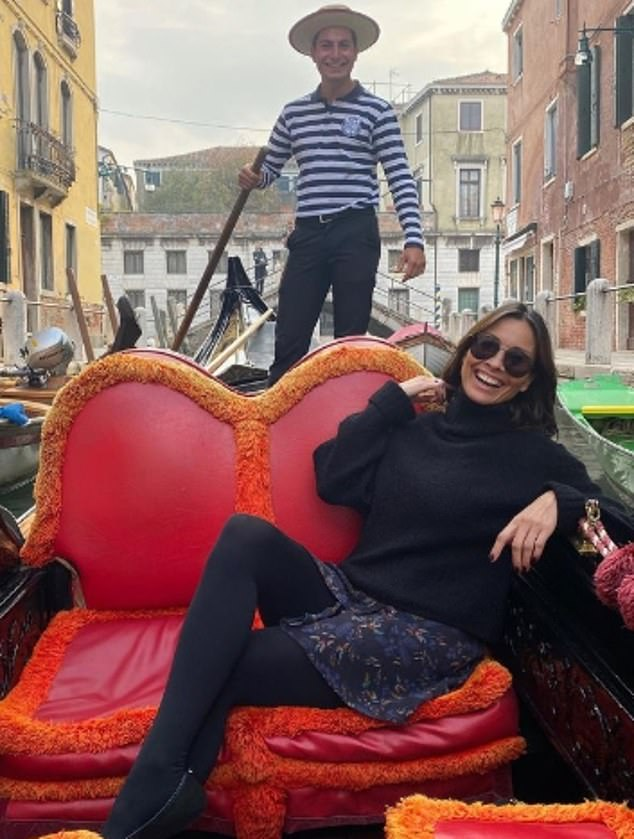 That's amore!Melanie and the gondolier, who is 27 years her junior, first enjoyed a six-day romance in Venice in October, after she paid him £72 for a half hour's ride on his gondola
