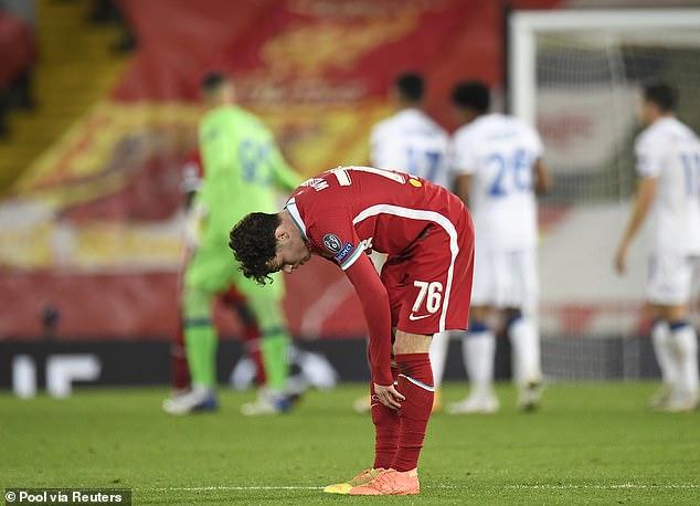 Klopp claimed his back-up players struggled to keep up with Atalanta on Wednesday night