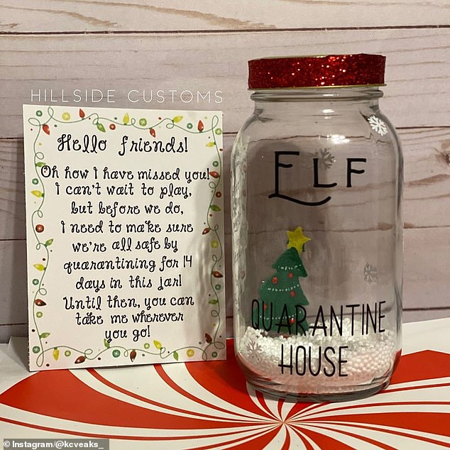 Explainer:The HillsideCustomsShop on Etsy has already sold out of its elf quarantine houses, which come with a note from the elf