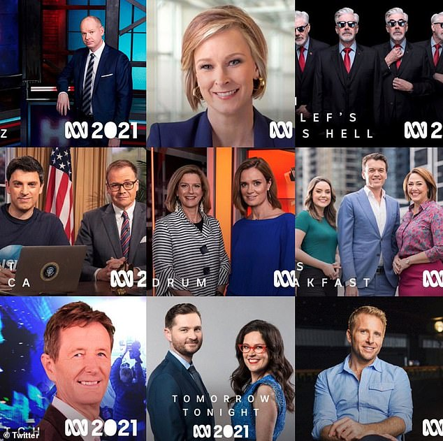 Controversial: It comes after a photo promoting an all-white lineup of presenters for ABC's flagship programs in 2021 went viral