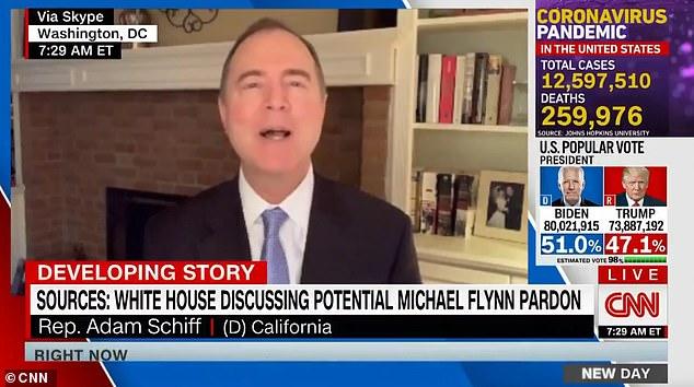 Democrat AdamSchiff, the House Intelligence Chairman, compared Trump to a mob boss