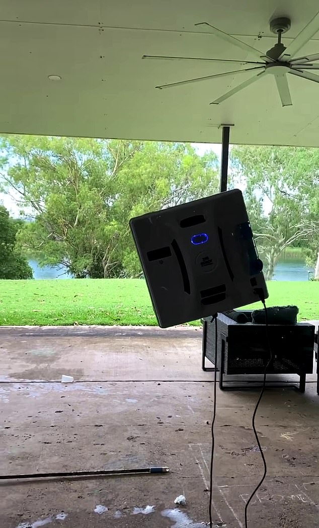 The video shows the robot gliding along floor to ceiling windows with ease and is not the first robot of its kind to cause a stir
