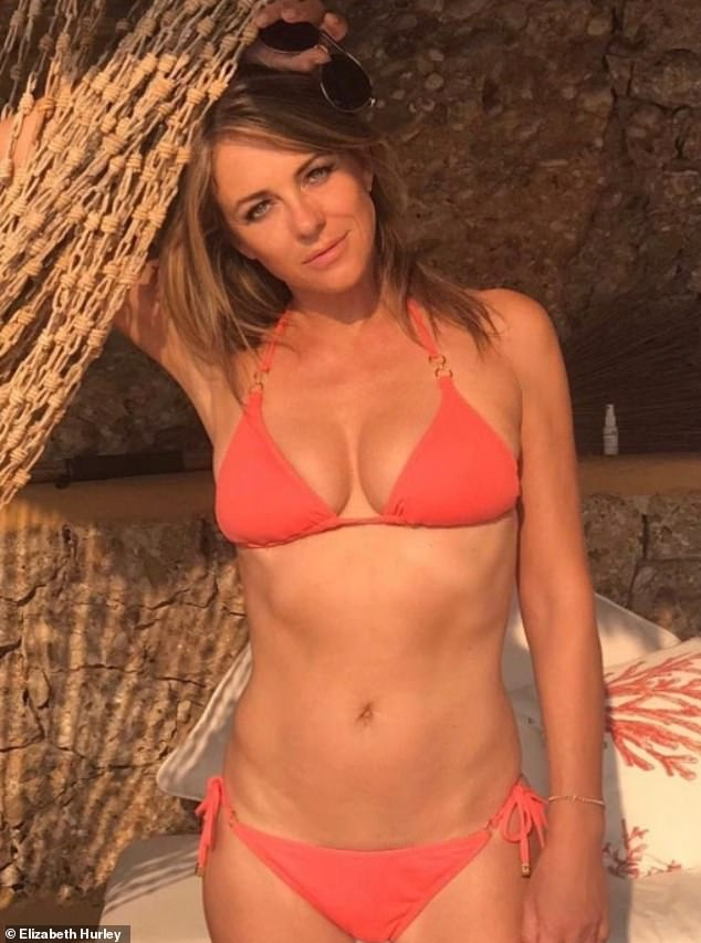 Wow!Elizabeth Hurley was again giving her followers their daily dose of bikini action as she shared her latest sizzling snap on social media