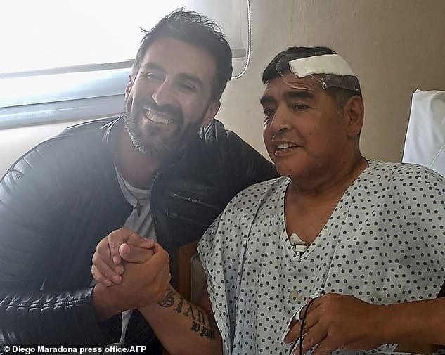 From the look of him (pictured shaking hands with his doctor on November 11 after his successful brain surgery), he was never going to make a footballer. He was barrel-chested, squat (he grew to just 5ft 5in), and prone to putting on weight