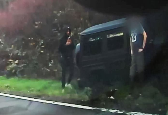 The young England U21 star who earns around £21,000-a-week was seen looking shocked at the roadside after the crash