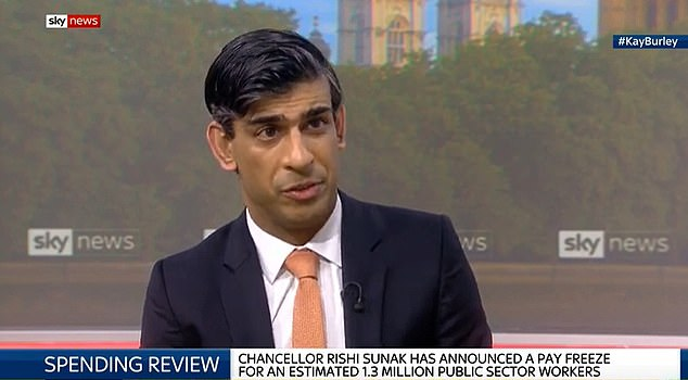 Chancellor Rishi Sunak insisted he could not completely shield government employees from pain amid mass job losses and cuts in income for the private sector