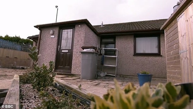 Room to improve: The retirement bungalow before the DIY SOS transformation last year