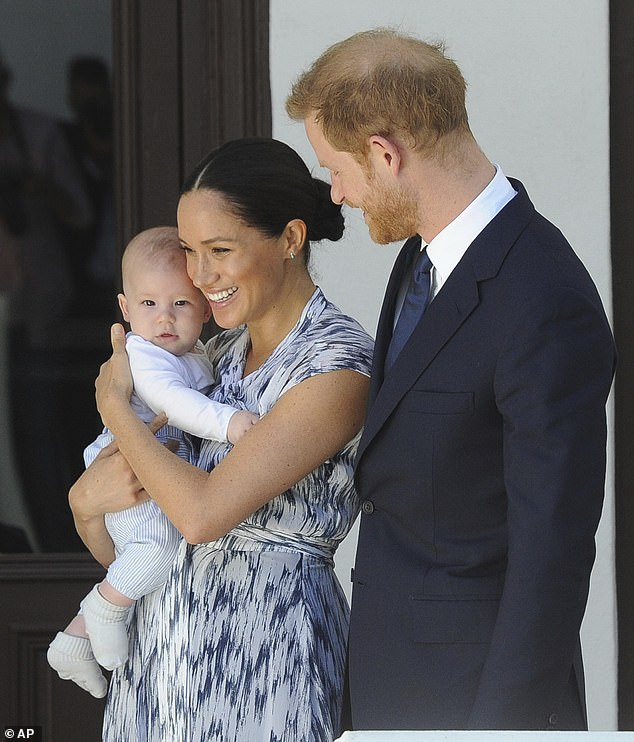 Loss: Meghan married Prince Harry in 2018, and the couple are parents to a one-year-old son, Archie. Pictured together in South Africa in September 2019