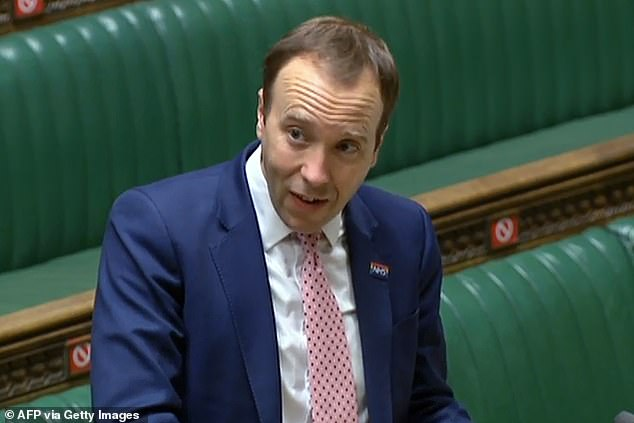 Health Secretary Matt Hancock revealed which tier each area of England has been placed in