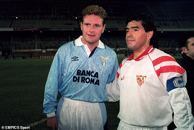 The two sensational players had already met in a friendly between Lazio and Sevilla in 1992
