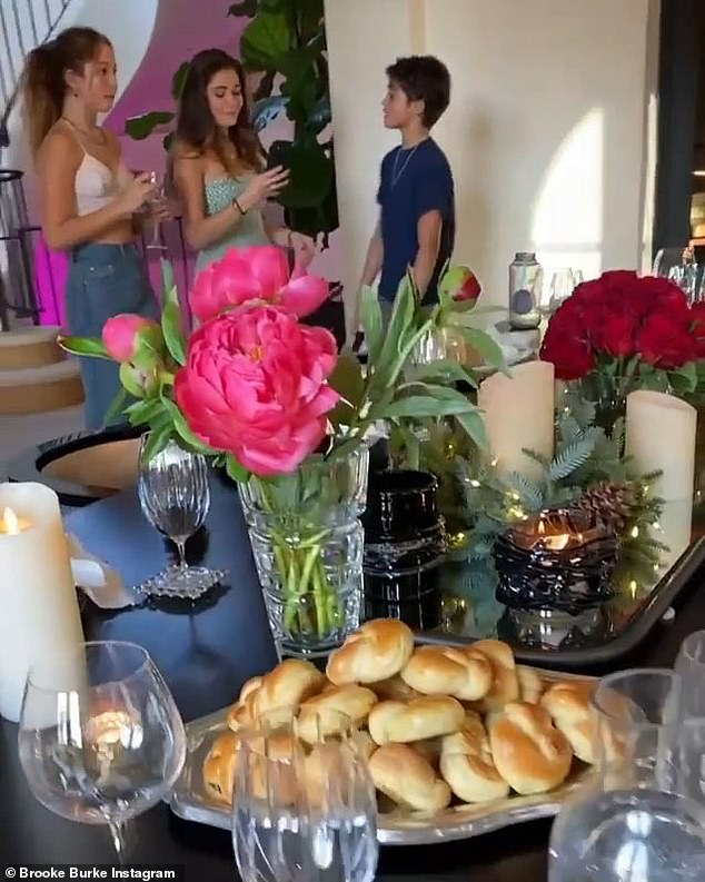 Her kids:The 49-year-old beauty posed side-by-side with her stunning 20-year-old daughter Neriah on Monday evening during an early feast at her mansion in Malibu. Here are her other children