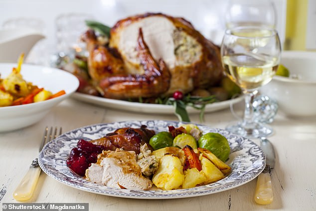 Signature Staff, a 60-year-old British company providing exclusive household staff to some of the most prominent royal and celebrity families across the globe revealed the requests they're seeing ahead of December 25. Pictured: Stock image of a Christmas dinner