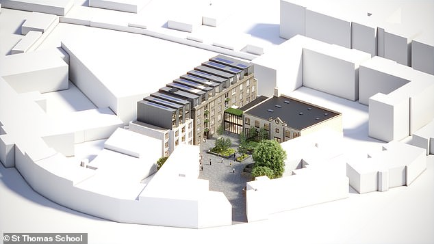 The schoolhas gained planning consent, alongside South London developer Avanton, to transform the Royal Academy of Dance headquarters into a new school called Thomas's Battersea Square. Pictured, an artists impression