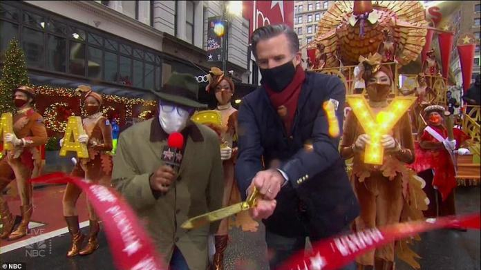 The ribbon is officially cut on the 2020 Macy's Thanksgiving Day Parade