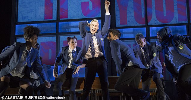 Shows including Six, Everybody's Talking About Jamie (pictured) and The Play That Goes Wrong will all be allowed to go ahead as planned under the Tier 2 restrictions - which allow for theatres to reopen