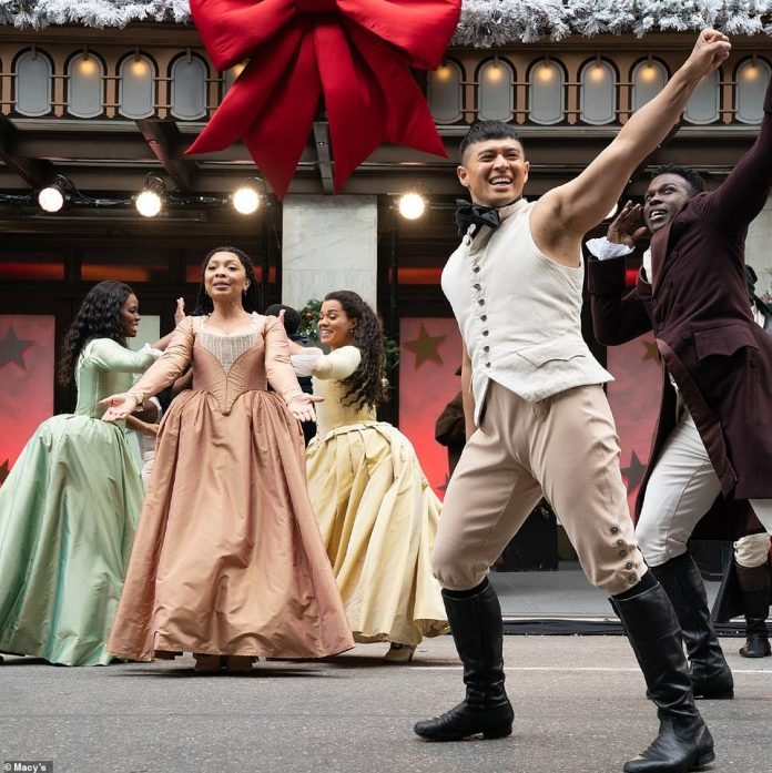 The cast of Hamilton was performing at the treasured tradition for the first time this year