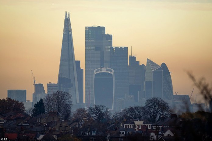 The City of London is surrounded by haze this morning. The capital will be in tier two next week
