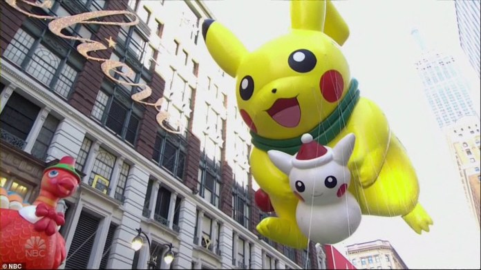 The Pikachu balloon, also a fan favorite returned this year
