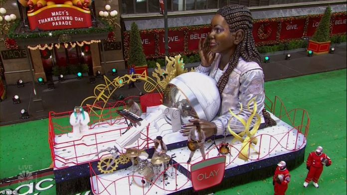 One of the floats promoted girls in stem and encouraged young girls to code